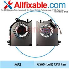 MSI GS60 (Left) GS60 2PL GS60 2QE GS60 2PE Ghost Pro CPU Fan