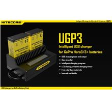 Nitecore UGP3 Intelligent USB Battery Charger for GoPro HERO3/3+