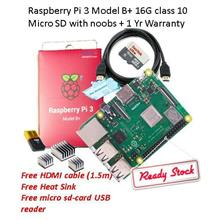 Raspberry Pi 3 Model B+ & 16G class 10 Micro SD with NOOBS
