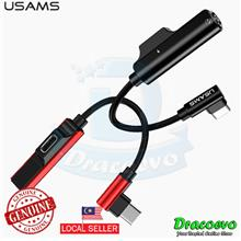 USAMS 90 Bending Design Type C To Audio 3.5mm Aux Cable With Charging