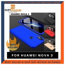 Huawei Nova 3i 360 Full Body Protection Case + Tempered Glass
