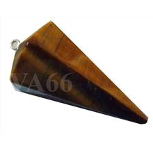 18kgp Tiger Eye Pendulum 45mm x 25mm Gemstone Make Pendant