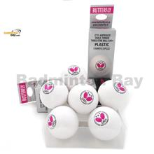 Butterfly 3-Star G40+ Made In Germany Plastic Ping Pong Ball (6 Balls)