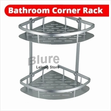 Corner Shampoo Rack Aluminium Bathroom Storage Rack 2 Tier