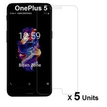 5 units ONEPLUS 5 TEMPERED GLASS
