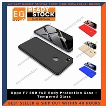 Oppo F7 360 Full Body Protection Case + Tempered Glass
