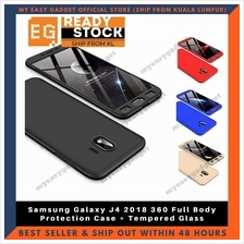 Samsung Galaxy J4 360 Full Body Protection Case + Tempered Glass
