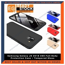Samsung Galaxy J6 360 Full Body Protection Case + Tempered Glass