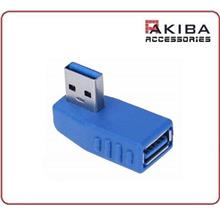 USB3.0 Adapter Type A Male to A Female 90 Degree Angled