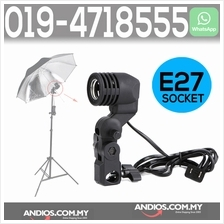 E27 Bulb Holder Socket For Umbrella Studio Photo Light Stand Adapter