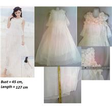 **CELLY**    Chiffon Long White Dress (Fit up to L)