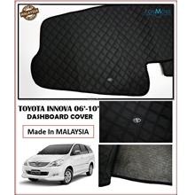 Toyota Innova 2006-2010 Dashboard Cover Black with Oem Emblem