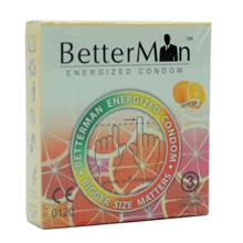 BetterMan Energized Condom / Kondom - Orange - 3 pcs
