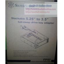 SILVERSTONE HDD MOBILE RACK 5.25' to 3.5' HOT-SWAP DRIVE SST-FP57B