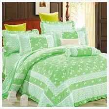 HIGH QUALITY BEDSHEET PATCHWORK QUEEN SET OF 3 WITH LACE BORDER
