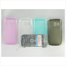 Nokia Asha 302 N302 Transparent Tinted Jelly Soft Tpu Case Casing