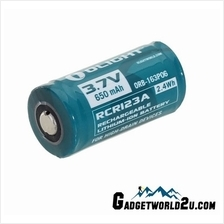 Olight RCR123 16340 3.7V 650mAh Rechargeable Li-ion Battery