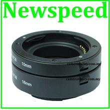 New AF Auto Focus Macro Extension Tube Set for Sony NEX A Mount Camera