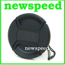 New 52mm Snap On Lens Cap for Digital DSLR Camera with string