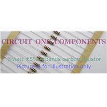 62R 5% 0.25 watt Carbon resistor - each