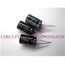 Electronic Component - 4700uF 25v Electrolytic Capacitor - Each