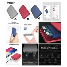 ROCK P51 10000mAh Mini Palm Matte LED Dual USB Slim Power Bank Battery