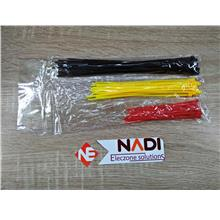 Red-Yellow-Black Cable Tie Size 4-6-8 inch Quantity 75 pcs