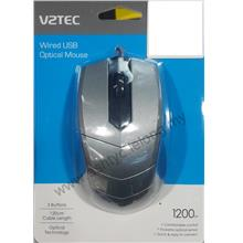 VZTEC WIRED USB OPTICAL MOUSE VZ2076 SILVER