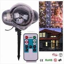 Motion Snowfall Snow Projector Snowflake Christmas Party LED Light