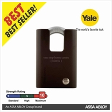 Yale Y300C/63/127 Black Series Hardened Steel Closed Shackle Padlock