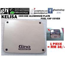 KELISA sporty chrome aluminium fuel cap cover with Gino logo