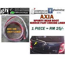 AXIA sporty chrome rear mirror part liner