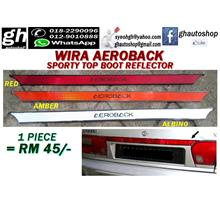 WIRA AEROBACK sporty rear boot top reflector