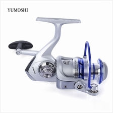 YUMOSHI 12BB HALF METAL SPINNING REEL FISHING TACKLE WITH FOLDABLE HANDLE (COL