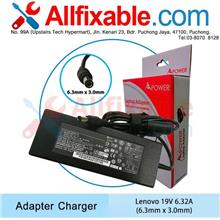 Lenovo 19.5V 6.15A(6.3x3.0) ThinkCentre A3080 A3100 Adapter Charger