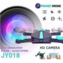 JY018 Foldable Mini Pocket Drone FREE Propeller 2MP 720P Wifi Selfie