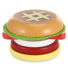 Magnetic Hamburger Shape Simulation Wooden Sliced Toy (COLORFUL)