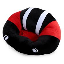 Portable Soft Sofa Floor Seat Cute Cushion Plush Kids Toy (BLACK AND R