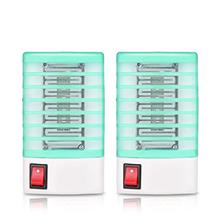 ALLOMN 2pcs Electric Mosquito Killer Lamp Insect Pest Bug Zapper Repeller Non-