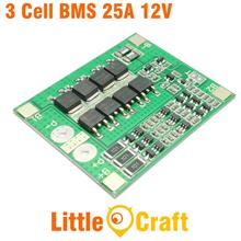 HX-3S-FL25A-A BMS 3 Cell 12V 25A Li-ION Battery Protection Module