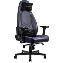 NOBLECHAIRS ICON FULL LEATHER GAMING CHAIR - MIDNIGHT-BLUE/BLACK