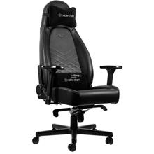 NOBLECHAIRS ICON GAMING CHAIR - BLACK/PLATINUM WHITE