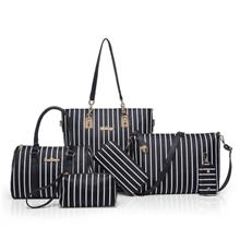 Six Woolly Fashionable Stripe Lash Package Bags