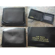 **Incendeo** - LUIS PACO Black Genuine Executive Leather Wallet