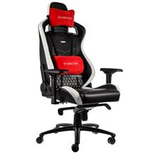 NOBLECHAIRS EPIC GAMING CHAIR - GENUINE LEATHER BLACK/RED/WHITE