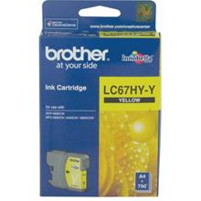 GENUINE BROTHER LC-67HY HIGH YIELD YELLOW INK CARTRIDGE **NEW**