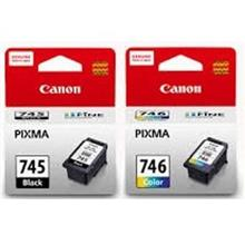 GENUINE CANON PG-745 BLACK + CL-746 COLOR INK CARTRIDGE **NEW**