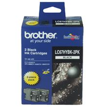 BROTHER LC-67 HIGH YIELD TWIN BLACK INK CARTRIDGE (BULK PACK)