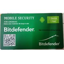 GENUINE BITDEFENDER MOBILE SECURITY 2017 FOR ANDROID (1 YEAR 1 USER)