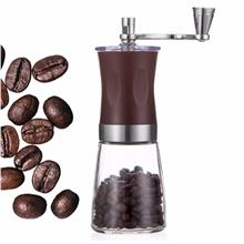 Stainless Steel Coffee Grinder with Brush